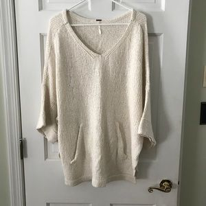 Free People sweater poncho with front pocket